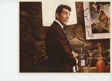 Dean Martin Signed 8X10 COLOR Photo PSA with Letter #AE08058 Black Sharpie
