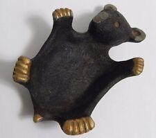 "3"" x 4 1/2"" Cast Iron Paris Art Pt 741 Black Bear Ring Coin Holder"