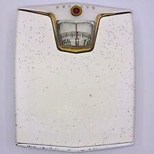 Vintage Retro Deco Mid Century Detecto Bathroom Metal Floor Scale Glitter 1950s