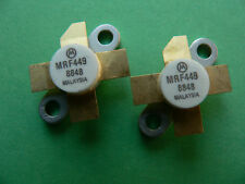 2ea MRF449 RF Power Transistor 30W 30MHz Pair