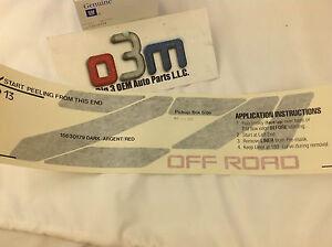 1989-1999 Chevrolet K1500 Z71 Argent Off Road Bed Side DECAL new OEM 15630179