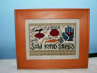 BENT CREEK COMPLETED CROSS STITCH PICTURE EAST SIDE MOULDING FRAME SOW KIND SEED