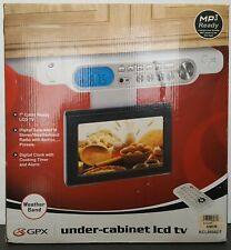 "GPX Under Cabinet 7"" LCD TV, Digital Tuner Timer AM/FM Stereo Remote Weather NEW"