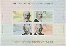 Liechtenstein 2012 Souvenir sheet #1538a Liechtenstein Postage Stamps Cent - MNH