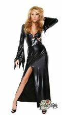 Forplay Mistress Of Midnight Costume Size MEDIUM LARGE  SEXY BLACK FAUX LEATHER