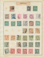 GREAT COLLECTION OF PORTUGAL WITH SOME VERY EARLY STAMPS ON ALBUM PAGES