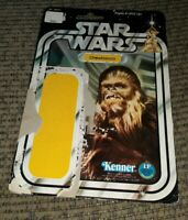 Original Vintage Star Wars 1977 Back Kenner Chewbacca Chewy.38210 board card