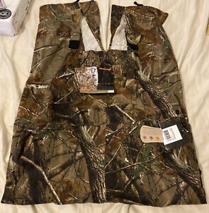 Real Tree AP Camo Sz Xl 40-42 Hunting Realtree Bib Overalls Nwt New Htf Drawstri