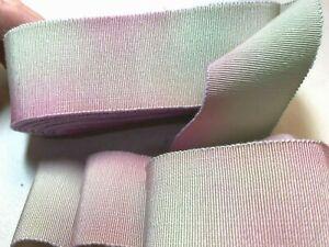 "Vintage Cotton Rayon 1 1/2"" Petersham Ribbon Mint Tourmaline 1yd Made France"