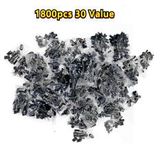 1800pc Radial Electrolytic Capacitor Assortment Kit 01uf 1000uf 10v 50v 30value