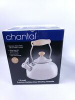 New Chantal Woodbury Premium Stainless Steel Whistling Tea kettle Fast Shipping