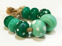 Lampwork Handmade Beads From Murano Glass 8 Pcs OOAK Tamara Yarilo Brand