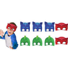 PJ MASKS CARDBOARD FACE MASK PACK OF 8 BIRTHDAY PARTY SUPPLIES