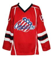 Custom Name # Rochester Americans Retro Hockey Jersey New Red Cherry Any Size