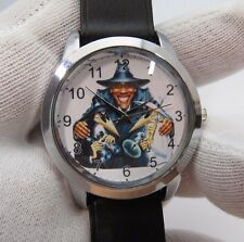 "OBAMA THE SPY ,""Spy's Like Us!"",Retro Round MEN'S CHARACTER WATCH,307,L@@K!"