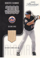 ROBERTO ALOMAR 2003 Playoff Prestige Player Collection Game-Used Bat #/325 Mets