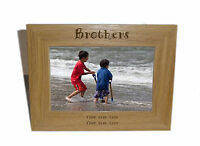 Brothers Wooden Photo Frame 6 x 4 - Personalise this frame - Free Engraving