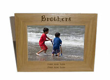 Brothers Wooden Photo Frame 7x5 - Personalise this frame - Free Engraving