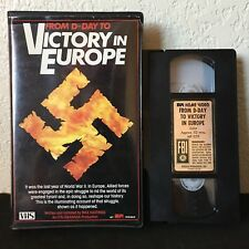 From D-Day To Victory In Europe VHS - RARE Clamshell WW2 World War Military B&W