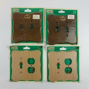 4 Edmar Creations Solid Handmade Wood Wall Switch Plate Covers