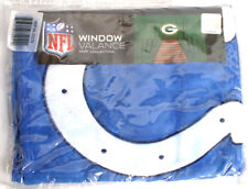 """NFL Window Valance Only Indianapolis Colts MVP Collection 56""""w X 15""""h"""