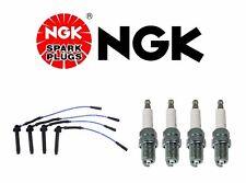 Fits Subaru Forester Impreza Set of 4 Spark Plugs & Spark Plug Wire Set NGK