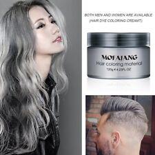 Silver Colour Grey Hair Wax Men Women Grandma Hair Ash Dye Gray Mud Temporary F7