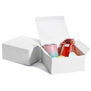 MESHA White Gift Box 8x8x4, Gift Boxes with Lids (10 Pcs), Bridesmaid Proposa...
