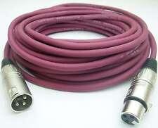 10 m Mikrofonkabel XLR-XLR 3-polig LILA DMX-Kabel Microkabel Mikrofon-Kabel NEU