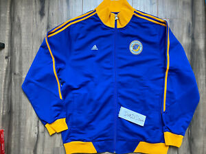 Adidas San Francisco Golden State Warriors Jacket Men's Sz Large Pre-Owned