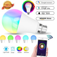 WiFi RGB Smart LED Light Bulb for Apps by iOS Android Amazon Alexa Google Home!!