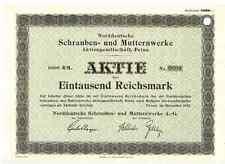 Norddeutsche Schrauben und Mutternwerke AG 1941 Peine Textron