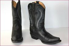 GO WEST Boots Santiags Tout Cuir Noir T 37 TBE
