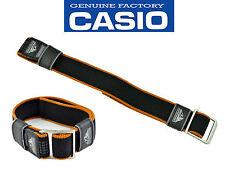 CASIO GENUINE WATCH BAND PATHFINDER 23mm BLACK/orange Resin STRAP PAW-1500GB-1V
