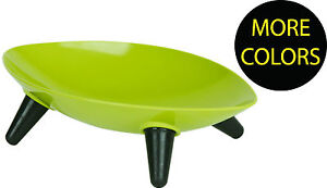 Melamine Sculpture Pet Dog Bowl Feeder Waterer w/ Rubberized Grips