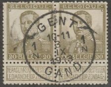 Kappysstamps S1913 Belgium Scott # 96a Bronze Green Catalog = $55