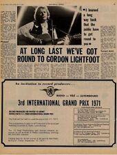 Gordon Lightfoot UK Interview 1971