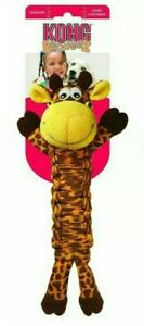 "Kong Bendeez - GIRAFFE - 16"" Soft Flexible LARGE Dog Fetch Chew Toy Squeaks"