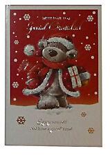 (168) singolo cartolina di Natale-Nonno-Bear