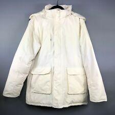 Stormtech Womens Coat Ivory Explorer Parka Marine Heritage Hooded Size Large