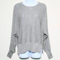 VINCE Gray Silk Wool Dolman Sleeve Waffle Knit Sweater Women's XS Extra Small 🔥