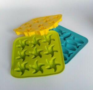 Ikea Silicone Molds Ice Chocolate Candy Jello Candy Crayons Stars Fish Starfish