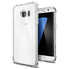 Spigen® [Crystal Shell] Extra Shock-Absorb Clear Cover Case for Galaxy S7 Edge