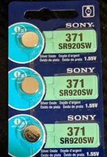 3 Pack Sony 371 Silver Oxide Battery AG6 SR69 SR92 V371 D371 SR920SW LR921 L920
