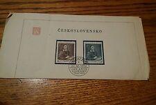 000 FDC Czechoslovakia cover 1952 Jan Amos Comenius Komensky Stamps