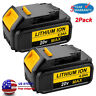 2x DCB204-2 20 Volt Max XR 4.0Amp Lithium Battery Pack For DeWalt DCB200 DCB205