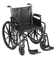 "McKesson Wheelchair Steel 20""W x 16""D Swing-Away Footrest 146-SSP220DDA-SF"