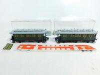BV911-0,5# 2x Trix H0 Personenwagen (ohne Achsen) DRG: 3730 + 3731, OVP
