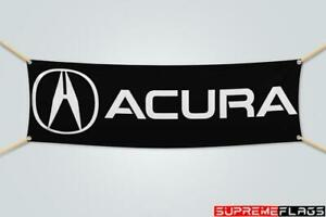 Acura Flag Banner Brake Car Racing Automotive Shop Garage Black (1.5x5 ft)