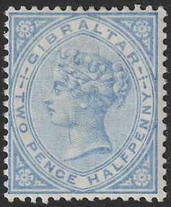 Gibraltar 1886 QV 2½d Blue Mint SG11 cat £85